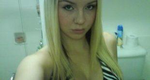 Selfie sdb blonde